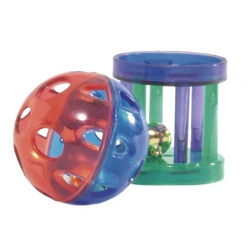 Мячик и игрушка с едой