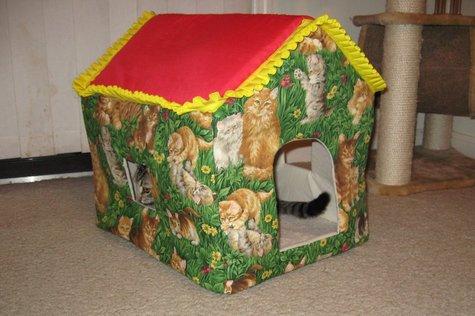 Как сшить домик для кошки?